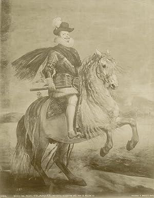 Velazques. Retrato egustere del Rey D. Felipe III. Museo del Prado, Madrid.: HAUSER Y MENET.
