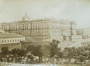 Madrid.Palacio real desde lamontaña del Principe Pio.: LAURENT y Cie,