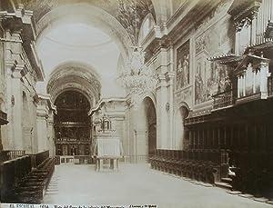 El Escorial. Vista del Coro de la: LAURENT y Cie,
