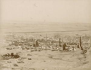 Panorama du Vieux Caire et Pyramides.: ZANGAKI (C. & G. Zangaki Brothers).