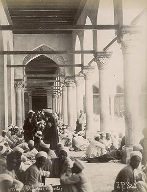 Caire. Mosquée El-Azhar (étudiants).: SÉBAH, J. Pascal.