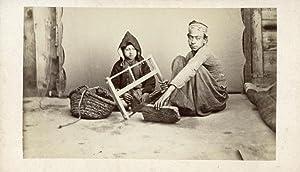 Wood-sawyer and little child.: BONFILS, Félix.