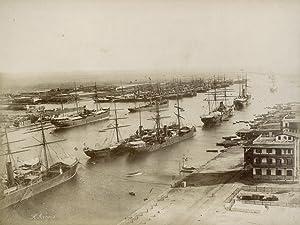Rade de Port Said l1 19 Juin 1885.: ARNOUX, Hippolyte.