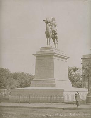 Caire, Statue d'Imbraïm Pacha.: ZANGAKI (C. &