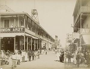 Port Said. Rue du commerce.: ZANGAKI (C. &