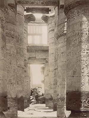 Karnak. Travée de la salle Hypostyle.: BEATO, Antonio.