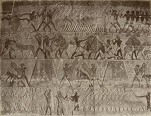 Interieur du Tombeau de Ti à Zakarah.: ZAKARAH.