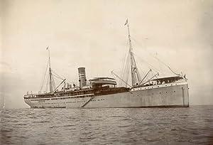"The Ship ""König"" at an Eastafrican coast.: KÖNIG."