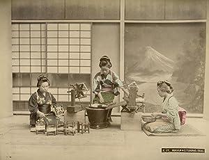 Manufacturing Silk.: KIMBEI, Kusakabe.