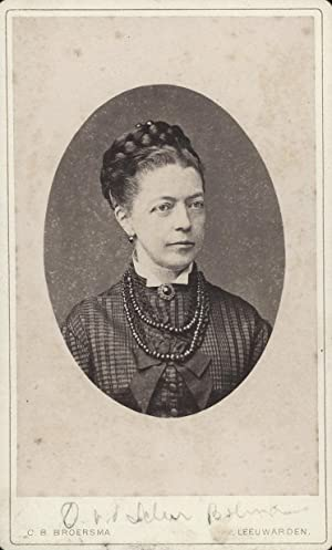 Portrait of Margaretha Cornelia van der Scheer-Bolman.: BROERSMA, C. B.