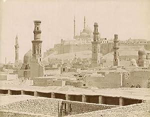 Caire. Vue on the Mosque Sultan Hassan.: ZANGAKI (C. &