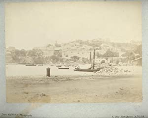 Boats in harbour.: GEISER, Jean.