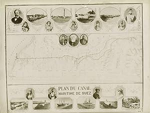 Plan du Canal Maritieme de Suez.: ZANGAKI FRERES.