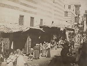 Cairo. Rue du Bazar, Khan-el-Khalili.: SÉBAH, Pascal.