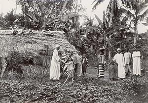 Group Inhabitans in a village, Zanzibar.: GOMES & Co.,