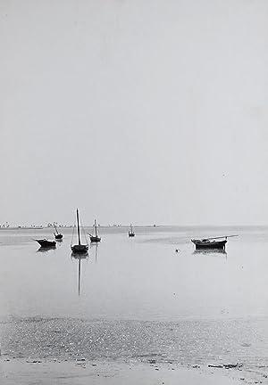 Coast of Australia, view with boats.: ETTEN, Chr. van.