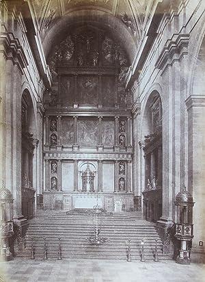 Interior of a church.: SPAIN.