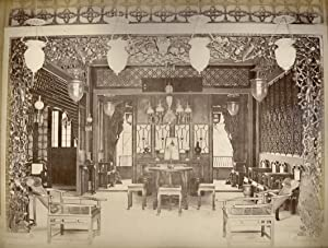 Interior of a Chinese Room. The reception room of a well-to-do Chinese merchant. The furniture is ...