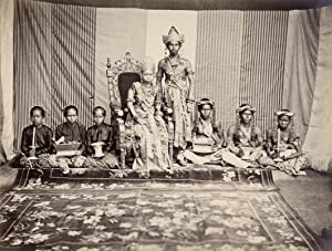 Groupportrait of Sultan Aji Muhammad Alimuddin of Kutai, his Spouse and their Household.: ALIMUDDIN...