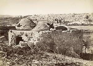Jérusalem. Ruines sur le lieu d'ou Christ: BONFILS, Félix.