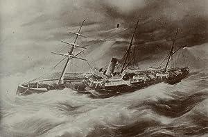 Stoomboot op zee.: NEDERLANDS-INDIË.