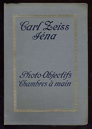 Objectifs Photographiques. Chambres Palmos.: CARL ZEISS.