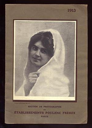 Section de Photographie des Établissements Poulenc Frères, 1913.: POULENC FRÈRES.