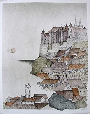 Impression on a town on the hill.: CZINNER, Ossi