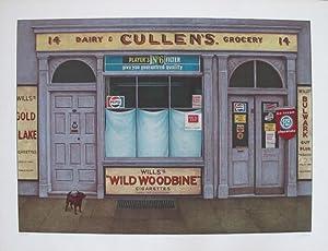 Dairy Cullen's Grocery. Original coloured lithograph.: MORITZ, Klaus