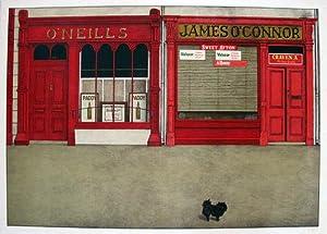 Neills & James O'Connor. Original coloured lithograph.: MORITZ, Klaus