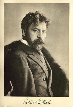 Portrait of Arthur Nikisch, after a photograph of Arthur Nikisch. Direktor der Gewandhauskonzerte ...