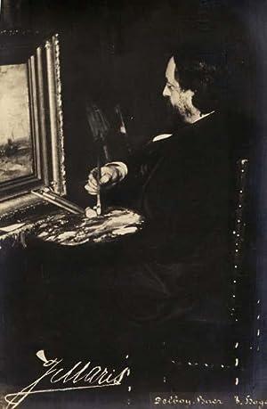 Portrait of Jacob Maris by Delboy-Baer.: MARIS, Jacob.