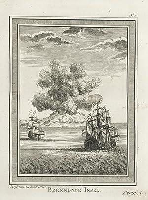 Brennende Insel. (Damme Island, Moluc Archipel).: SCHLEY, Jacob van der.