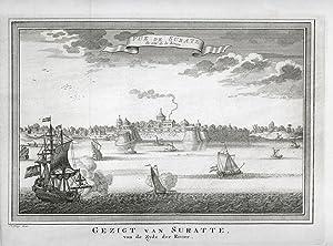 Vue de Surate du Coté de la Riviere.: BELLIN, J. N.