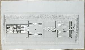 De Platte-Grond van den Tempel en het Graf van Osymanduas, te Luxerein of Laksor, een gedeelte van ...