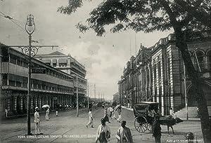 York Street, looking towards the Landing Jetty Colombo.: PLATE & CO, W.
