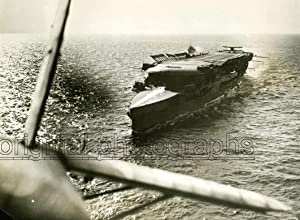 View from above from a Reconna aircraft, Gibraltar.: HMS FURIOUS.