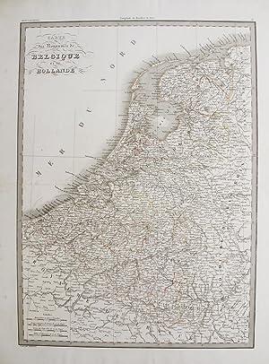 Carte des Royaumes de Belgique et de Hollande.: LAPIE, M. (Pierre), Alexandre Emile LAPIE.