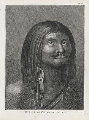 Un Homme de l'Entrée de Nootka.: WEBBER, John.