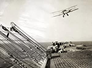 A Hawker Osprey (-/906) leaving the deck of the HMS Furious.: HMS FURIOUS.