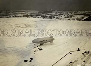Blimp. Defender NC-12A, aeril view on Akron airfield.: GOOD YEAR.