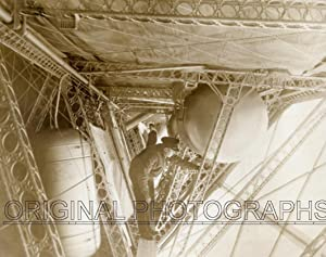 Interior of the USS Macon, checking the Gasoline Tanks, in the narrow Catwalk in the ship inside ...