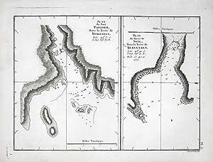 Plan du Port Palliser, dans la Terre de Kerguelen. Plan du Havre de Noël, dans la Terre de ...