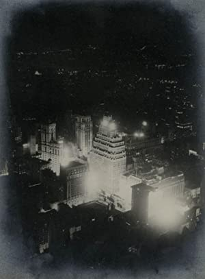 Broadway seen at Night from the Obseravtion floor of Radio City. Paramount Theatre Times Square.: ...
