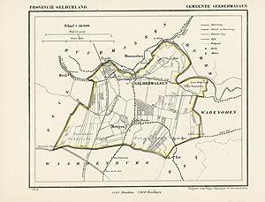 Gemeentekaart van Geldermalsen, Provincie Gelderland.: KUYPER, J.