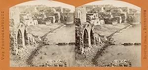 Palestine). Citywall on river (pool).: BONFILS, Felix.