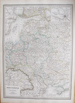 Russie Occidentale. (With insert map of St. Petersburg & Environs).: DUFOUR, A. H.