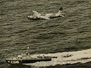 Air Sea Rescue Launch, 2518, covered by a Vickers Wellington, speed towards the position of the ...