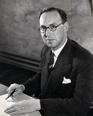 Portrait of Mr Pieter G. Masefield at his desk, Chief Executive of British European Airways (BEA), ...