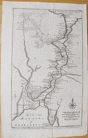 Kaart van den Thracius Bosporus of het Kanaal van Konstantinopel.: LINDEMAN, O.